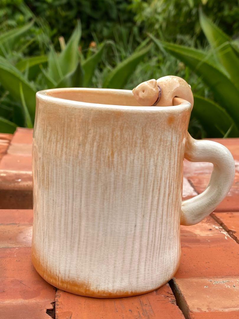 柴燒咖啡杯活動式熊熊杯緣子