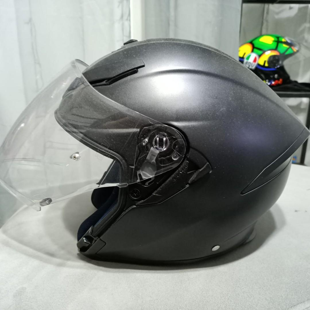 Agv K5 Jet Matte Black Xl Motorcycles Motorcycle Apparel On Carousell