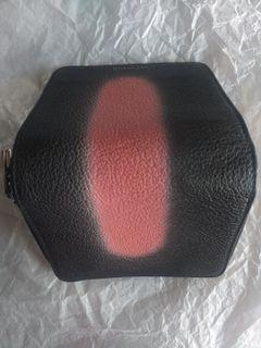 BALENCIAGA Pink Spray-Paint Effect Leather Wallet REPRICED