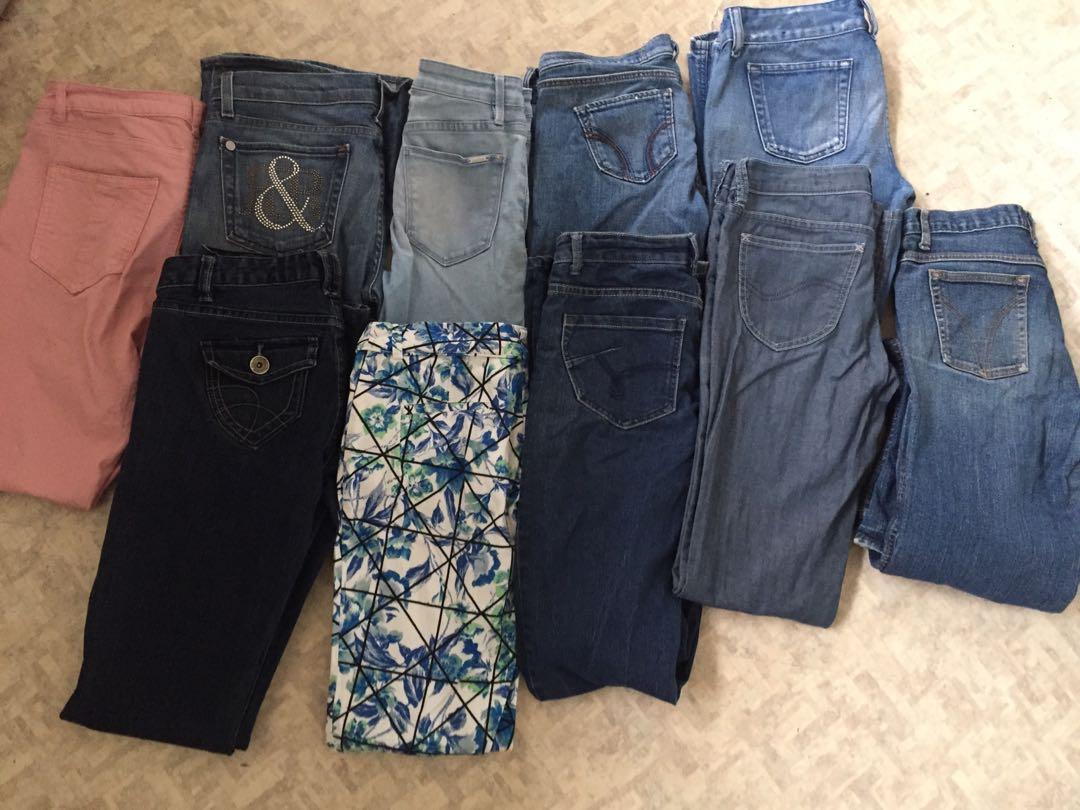 Bulk lot of branded jeans size 6-12