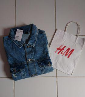 Jaket Jacket Trucker Jeans H&M Original
