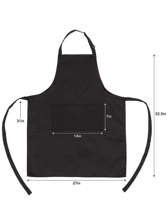 Kaf Home Unisex Adjustable Water Resistant Apron With Large Oversized Pockets Perfect For Crafting Cooking Baking Painting Gardening One Size Fits All Black Women S Fashion Clothes Others On Carousell