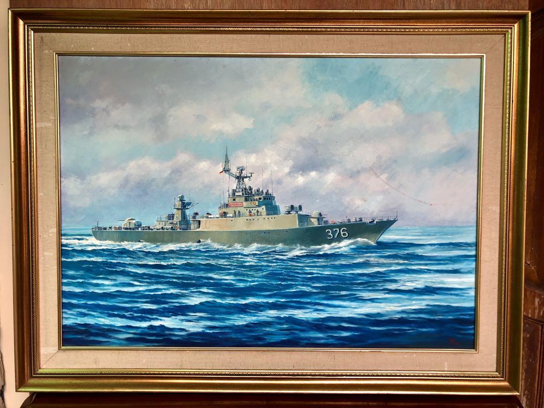 Lukisan kapal perang KRI 376