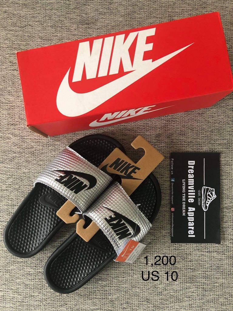 Nike Benassi JDI Slides, Men's Fashion