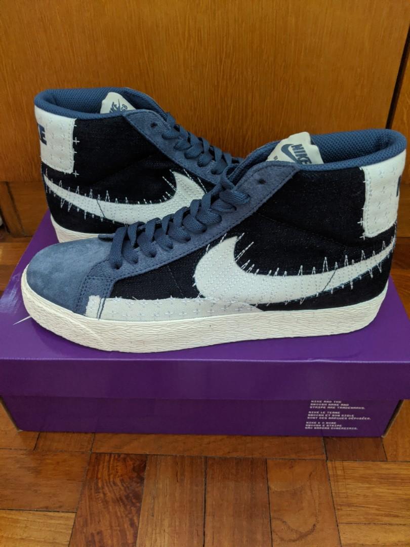 Nike SB Zoom Blazer Mid Sashiko Mystic Navy (New in stock), Men's ...