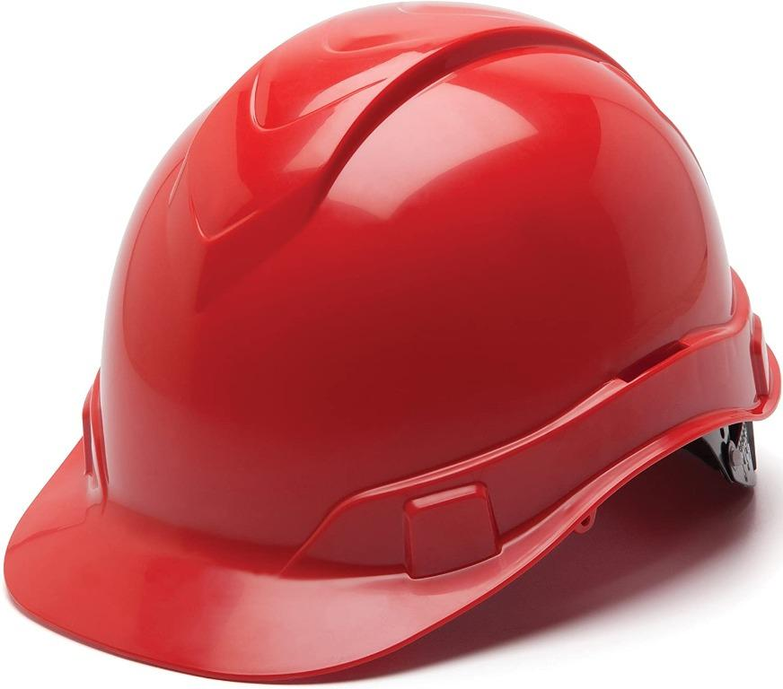 Pyramex Construction Safety Hard Hat (Red)