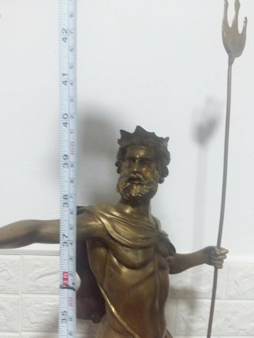 Solid brass  statue God of the sea