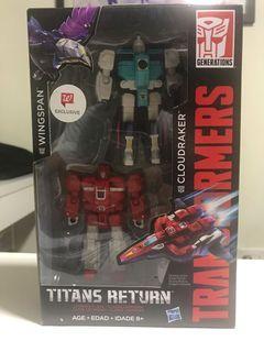 Transformers Wingspan & Cloudraker Titans Return Walmart Exclusive