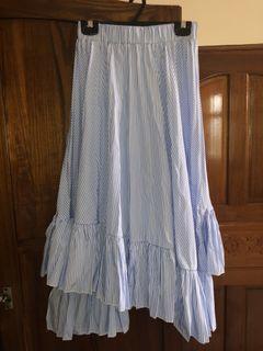 不規則條紋長裙