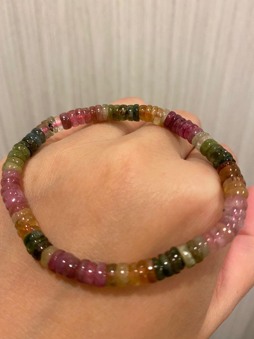 (特價)療癒水晶 能量寶石💎碧璽盤珠