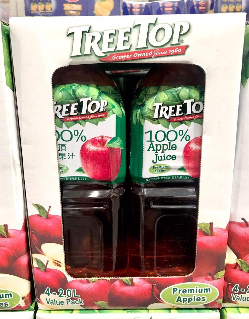 🚚宅配免運🚚 Costco好市多 Tree Top 蘋果汁 2公升 X 4入  樹頂蘋果汁 apple juice