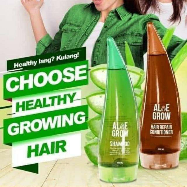 Aloe Grow Shampoo and Aloe Grow Hair Repair Conditioner, Health & Beauty,  Hair Care on Carousell