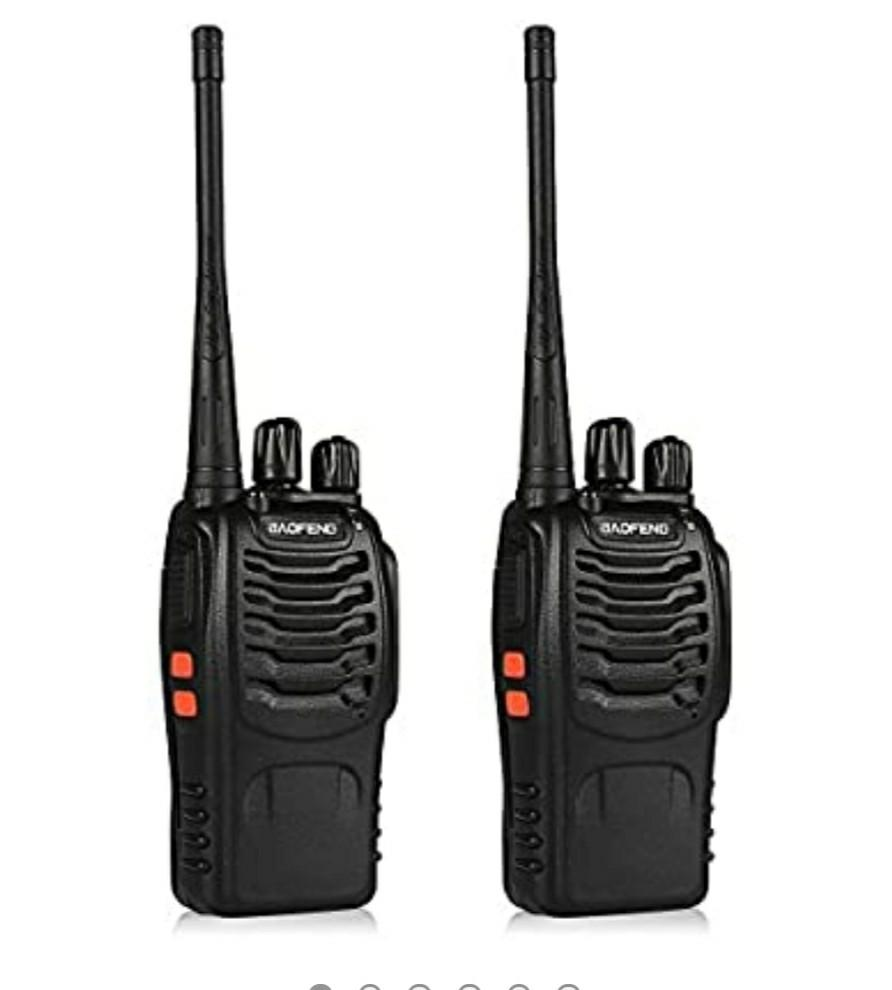 2pcs radios unimped Walkie Talkie 2pcs 400-470MHZ UHF Rechargeable Battery Headphone Wall Charger Long Range 16 Channels Two Way Radio