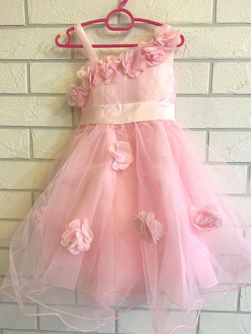 SIZE 4 TO 6 BNWT GIRLS PINK PARTY DRESS