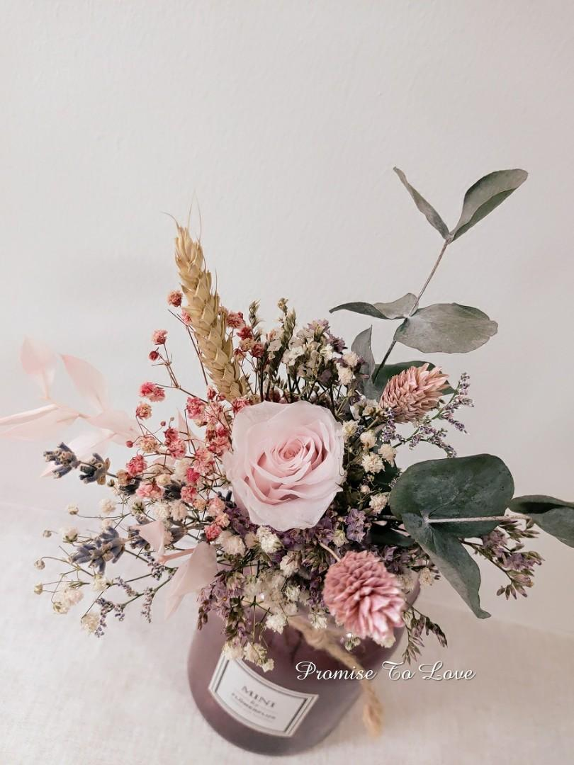 Free Delivery Of Preserved Dried Roses And Flowers Bouquet Gardening Flowers Bouquets On Carousell