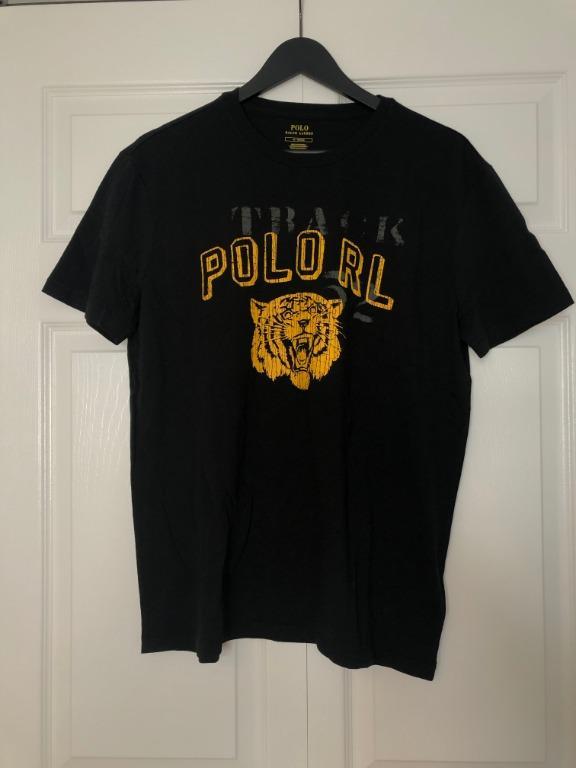 Men's Black Polo Tiger T-shirt size small