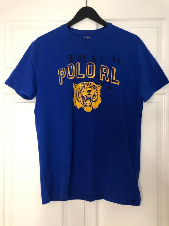 Men's Blue Polo Tiger T-shirt size medium