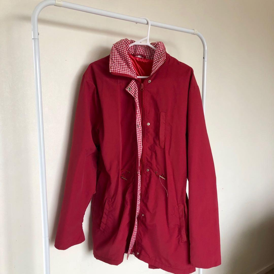 Red Gingham Coat / Jacket