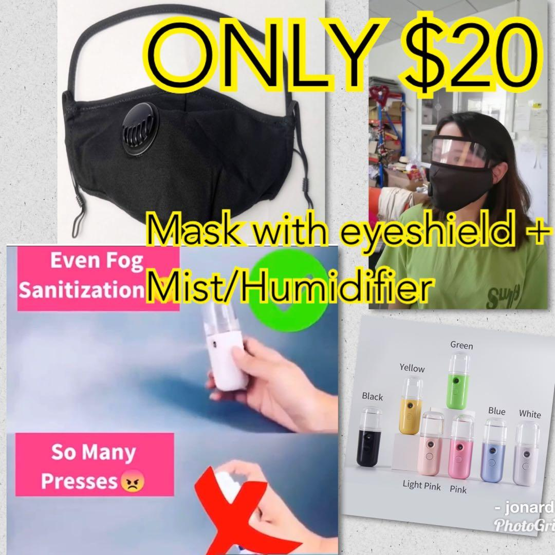 Spray Mists + Mask with eye shield COMBO $15 limited time offer