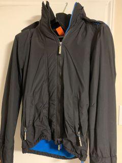Superdry black windbreaker jacket