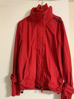 Superdry red windbreaker jacket