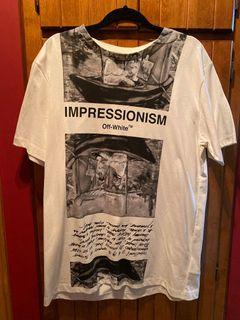 "(XL) OFF WHITE ""IMPRESSIONISM"" TSHIRT"