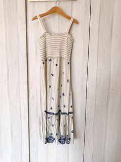100% Authentic Zara Girls White & Blue Floral Dress