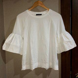 ❤️ M&S White Shirt with Ruffled Sleeves