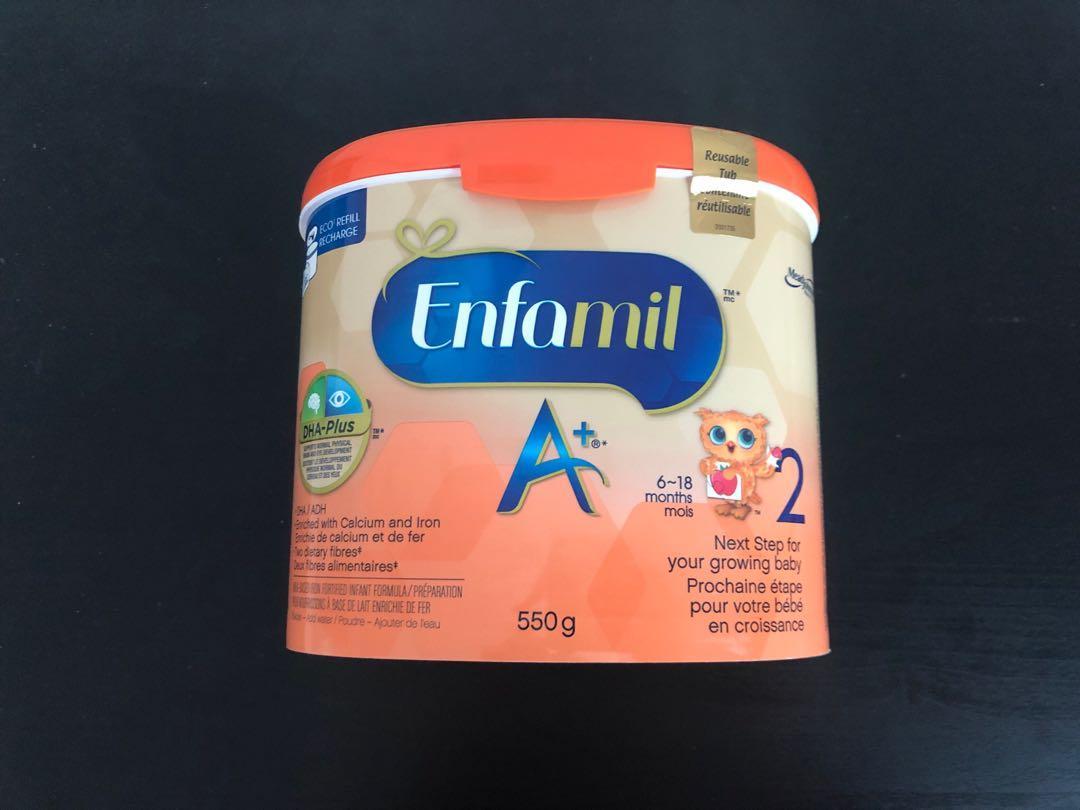 Brand new Enfamil A+ 2 infant formula powder tub