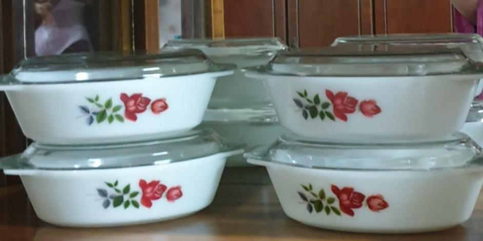 English Pyrex June Rose Antiques Vintage Collectibles On Carousell
