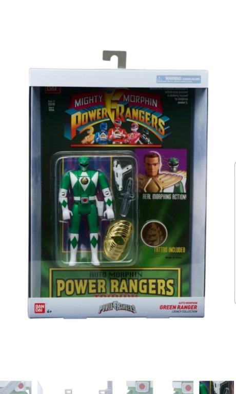 Power Rangers Auto Mighty Morphin Action Figure Tommy Green Ranger