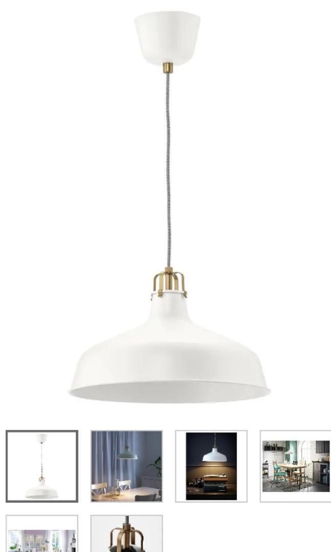 Ikea Ranarp Pendant Lamp X2 Furniture Home Decor Lighting Supplies On Carousell