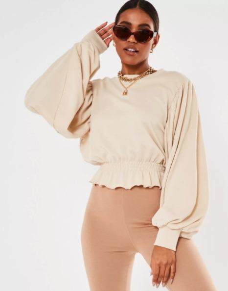 Missguided Cropped Sweatshirt Size 12