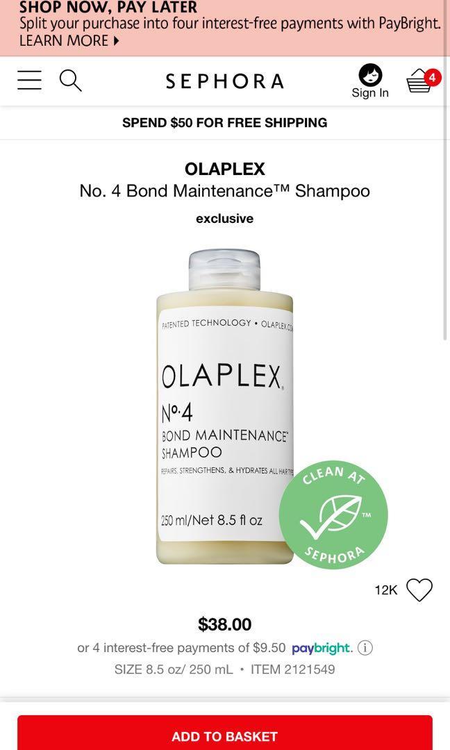 Olaplex shampoo #4
