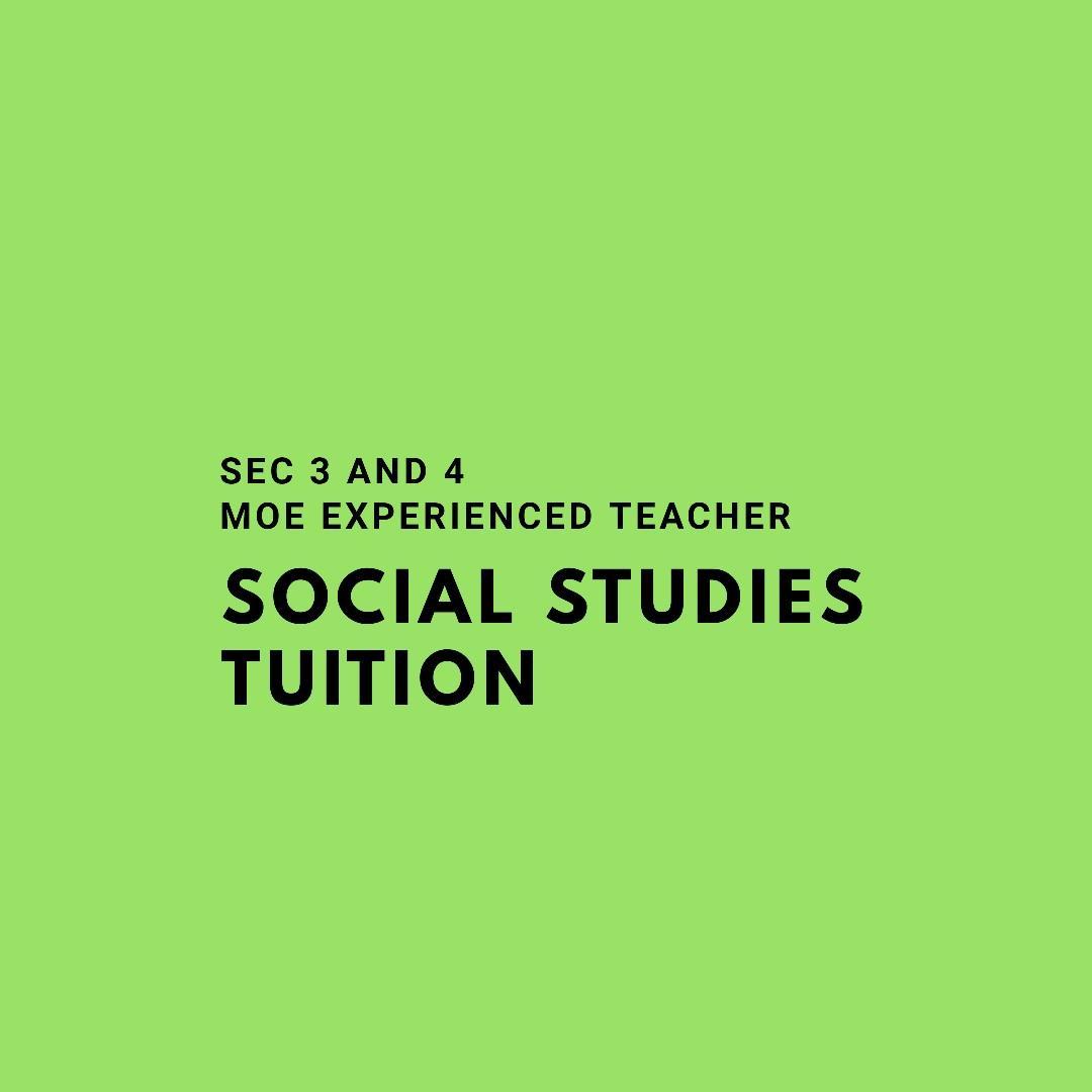 Social studies tution