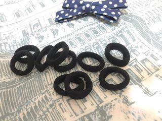 黑色鬆緊髮圈10個一包
