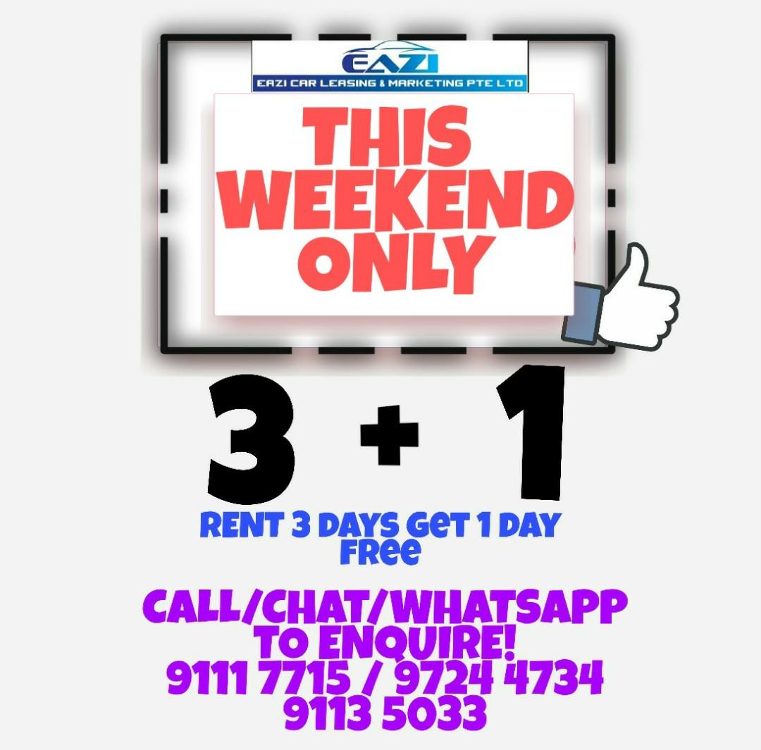 3+1 PROMO THIS WEEKEND ONLY P PLATE WELCOME
