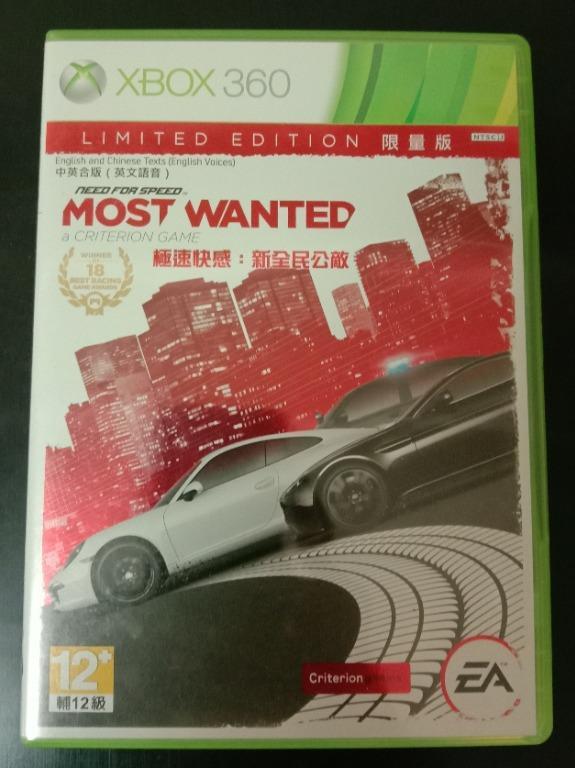 中文版 極速快感 新全民公敵 XBOX 360 Need for Speed Most Wanted