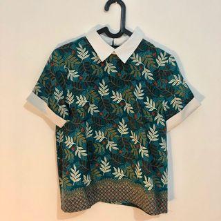 Batik Top Collar