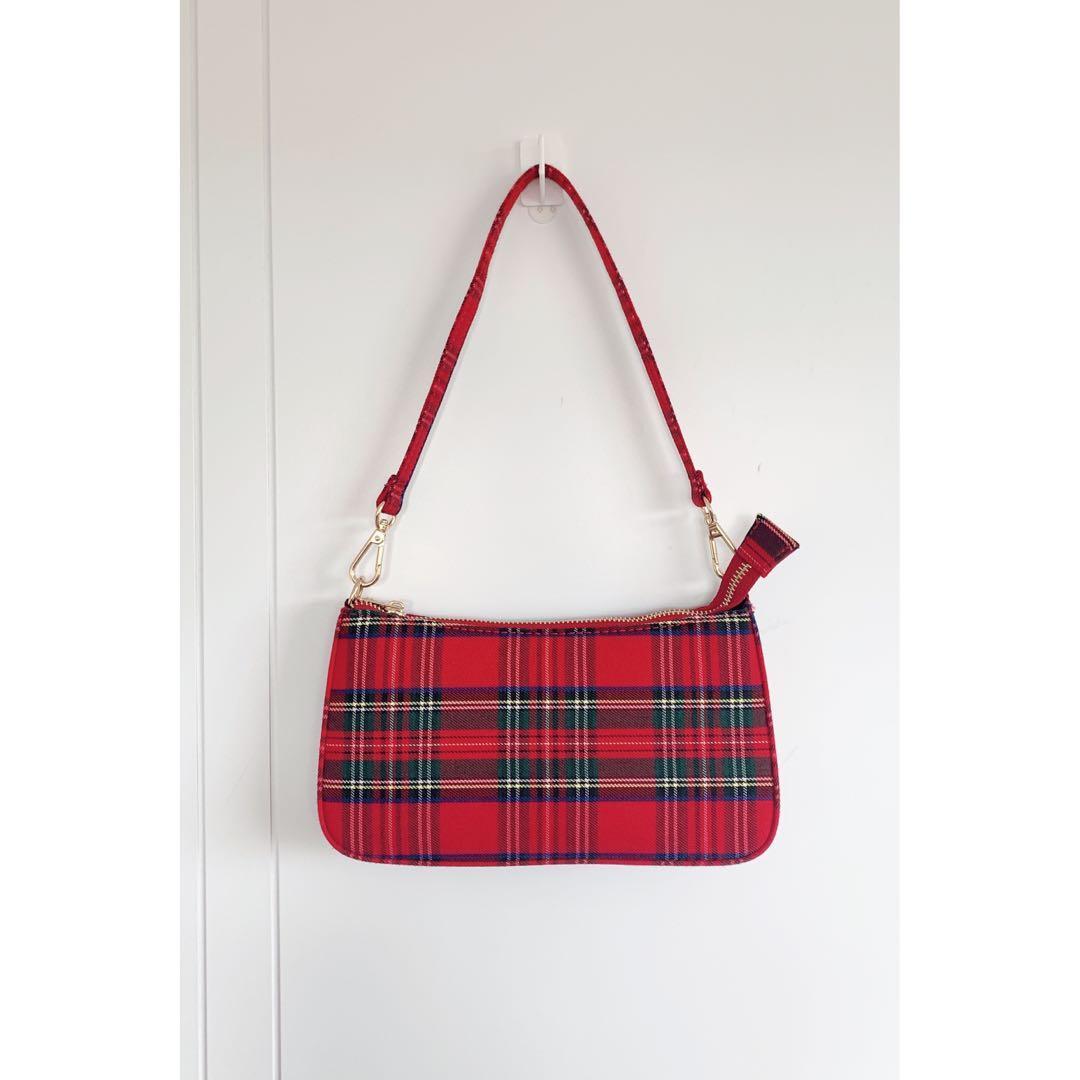 Brandy Melville red checker bag