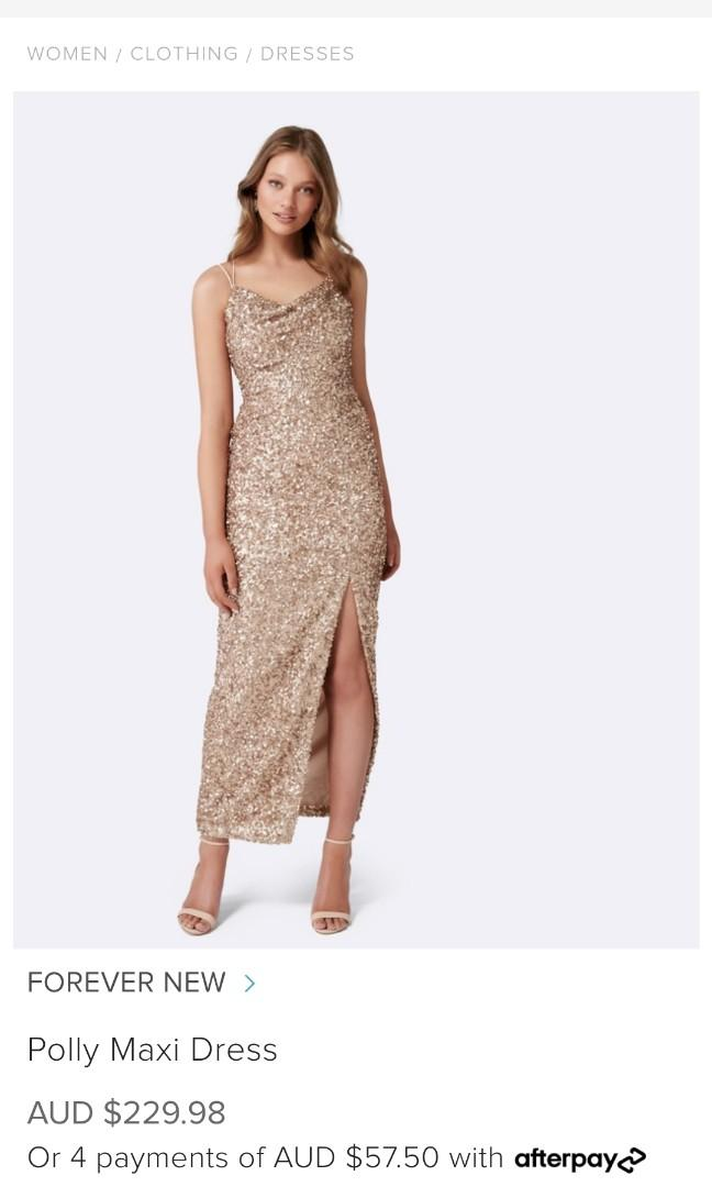 Forever New Gold  Maxi Dress