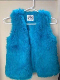 Girl's Justice Fur Coat in Blue