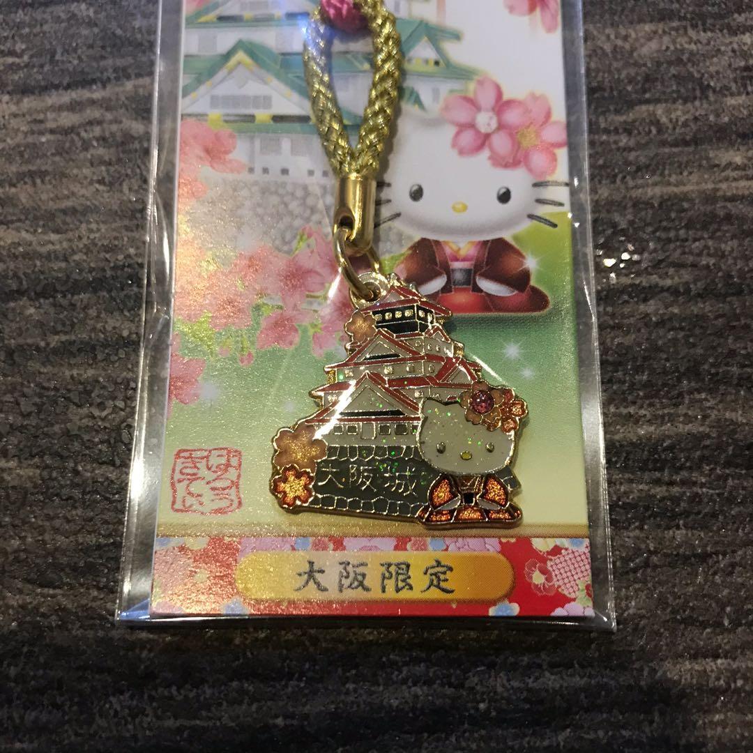 Hello Kitty 大阪城吊飾