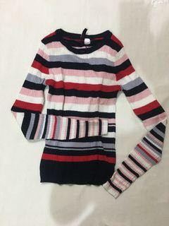 H&M Stripes Knitted Long Sleeves