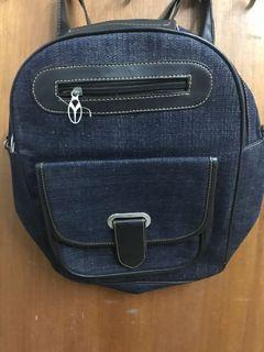 Jeans Sling Bag x Backpack