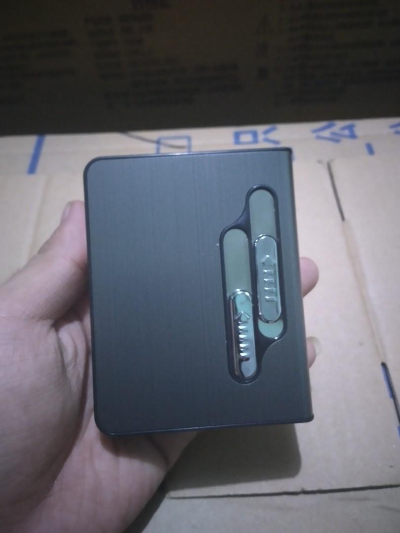 Kotak Rokok 10 slot dengan Korek Elktrik V2