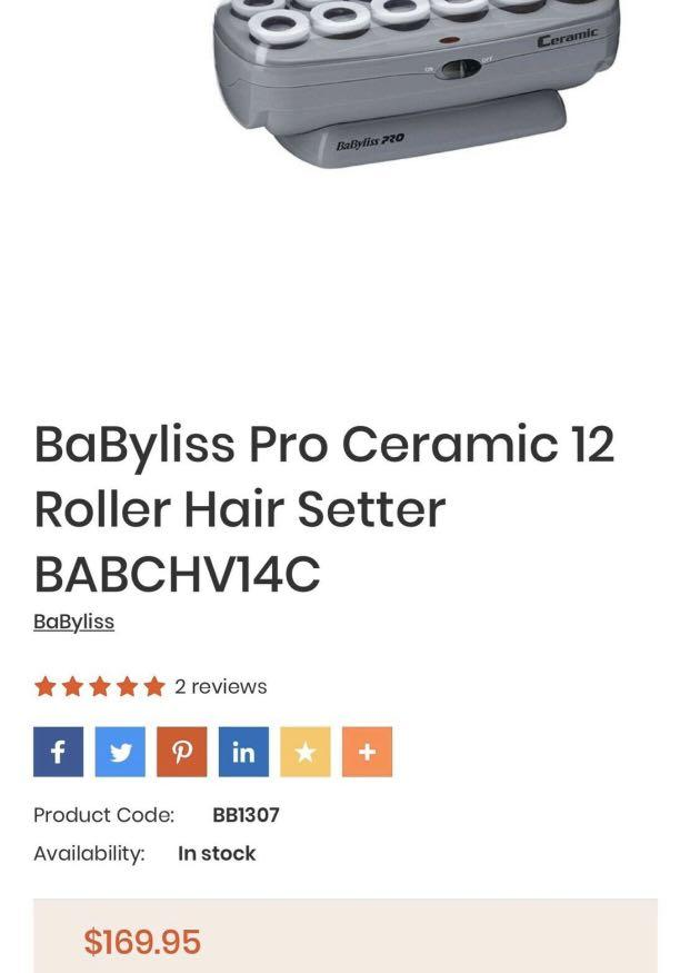 Like new babyliss curling set