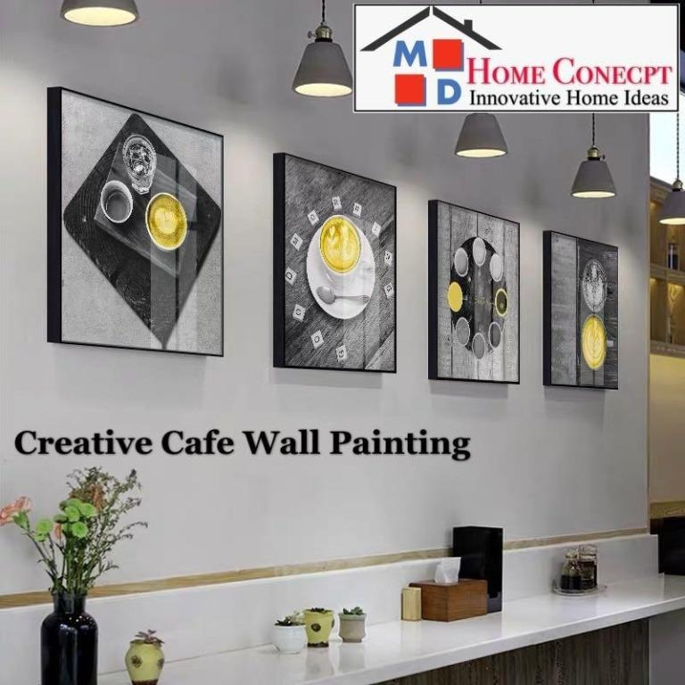 Md Home Conecpt Creative Cafe Wall Painting Furniture Others On Carousell