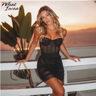 Mendocino Black Clubbing Dress