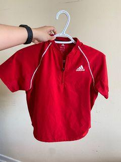Red Adidas Dri-Fit Workout Crop Top